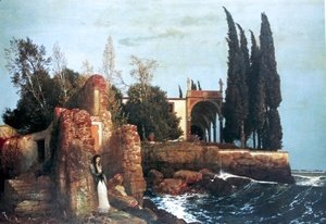 Arnold Böcklin - Villa by the Sea, 1878