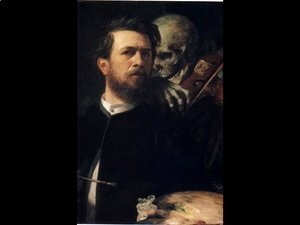 Arnold Böcklin - Self Portrait with Death