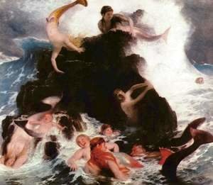Arnold Böcklin - Mermaids at Play, 1886