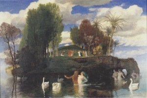 Arnold Böcklin - The Island of the Living, 1888