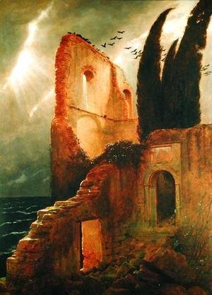 Arnold Böcklin - Ruin by the Sea, 1881
