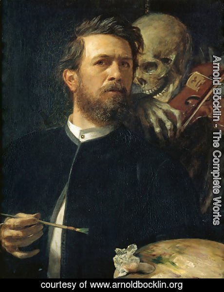 Arnold Böcklin - Self-portrait, oil on canvas, 1872