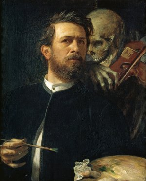 Self-portrait, oil on canvas, 1872