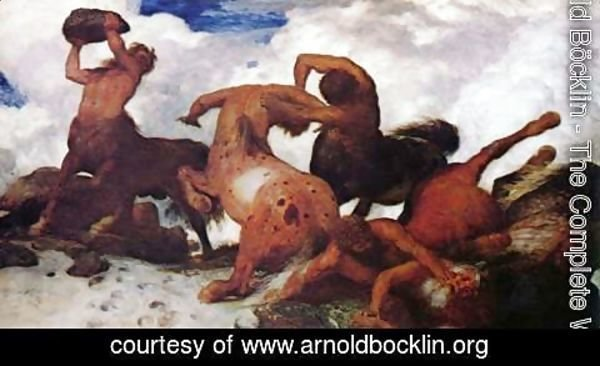 Arnold Böcklin - Battle of the Centaurs, 1873