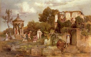Arnold Böcklin - A Tavern in Ancient Rome 1867-68