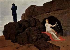 Arnold Böcklin - Odysseus and Calypso, 1883