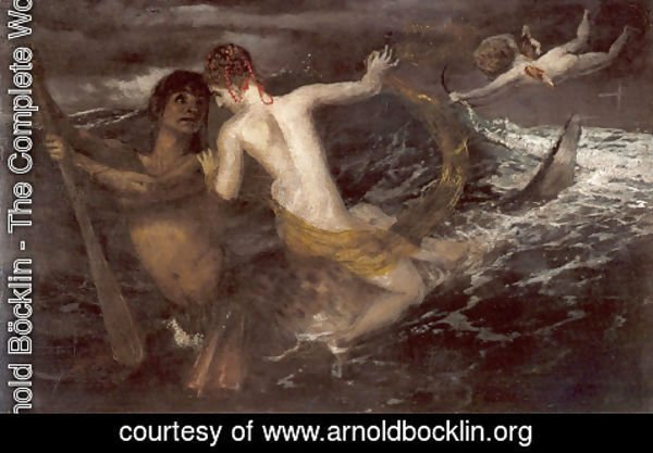 Arnold Böcklin - Triton and Nereid, 1875