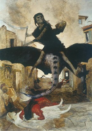 Arnold Böcklin - The Plague, 1898