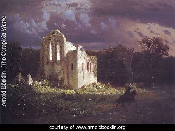 Ruins in a Moonlit Landscape