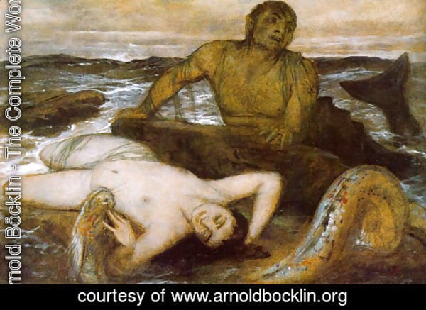 Arnold Böcklin - Triton and Nereid, 1877,