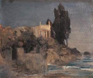 Arnold Böcklin - Villa by the Sea, c.1864