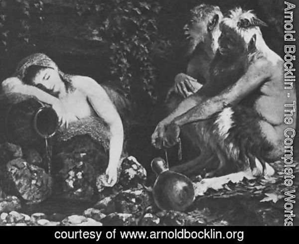 Arnold Böcklin - Fauns and Sleeping Nymph
