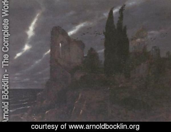 Arnold Böcklin - Ruins by the Sea