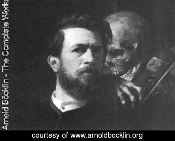 Arnold Böcklin - Self-portrait with Death Playing the Fiddle (detail)