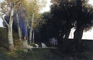 Arnold Böcklin - The Sacred Grove