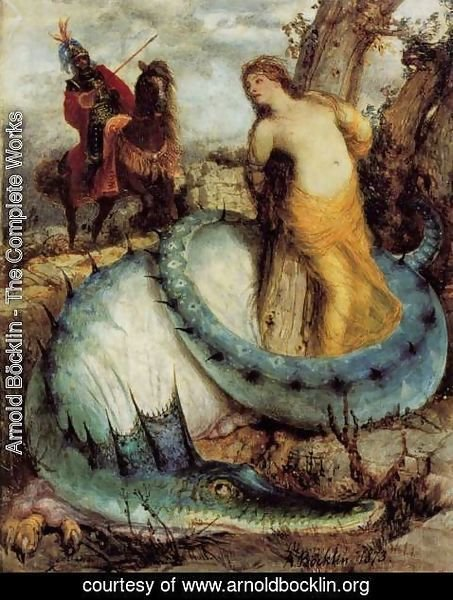 Arnold Böcklin - Angélique and the dragon