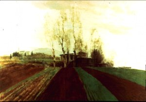 Arnold Böcklin - Arable land corridors in the early spring
