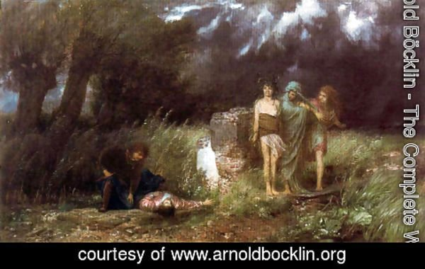 Arnold Böcklin - Assassin pursued by the furies