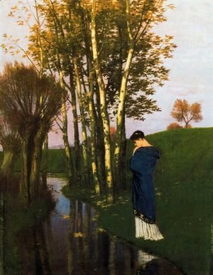 Arnold Böcklin - Autumn Thoughts