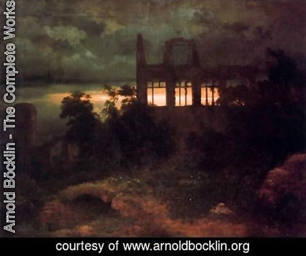 Arnold Böcklin - Castle in ruins