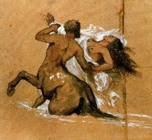 Arnold Böcklin - Centaur and nymph