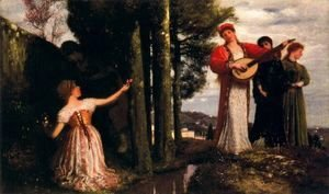 Arnold Böcklin - Look, any laughs to the plains!  (Souvenir de San Domenico)