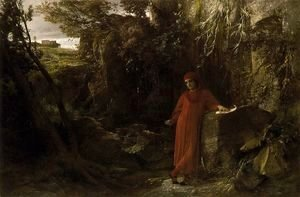 Arnold Böcklin - Petrarch to the fountain of Vaucluse