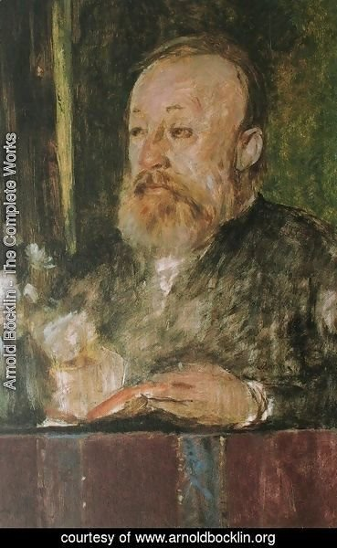 Arnold Böcklin - Portrait of Gottfried Keller
