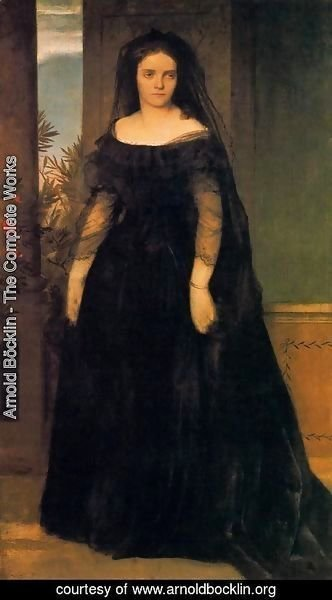 Arnold Böcklin - Portrait of the actress Fanny Janauscher