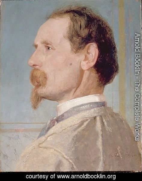 Arnold Böcklin - Portrait of the sculptor Josef von head