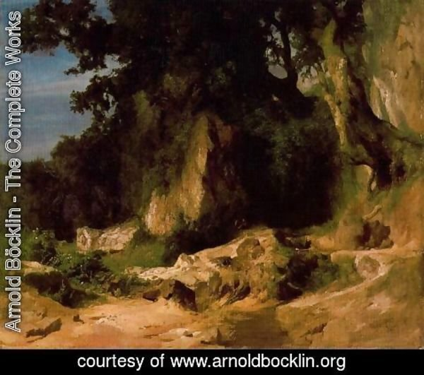Arnold Böcklin - Slope of the Albains Rocky Mountains