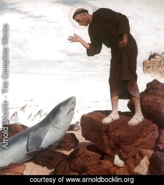 Arnold Böcklin - St. Anthony preaches the fish