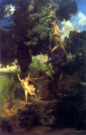 Arnold Böcklin - Syrinx fleeing the onslaught of Pan