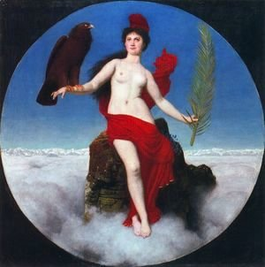 Arnold Böcklin - The Freedom (Helvetia)