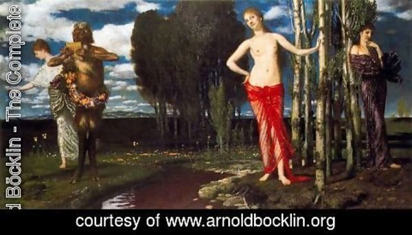 Arnold Böcklin - The Wake-Up Spring