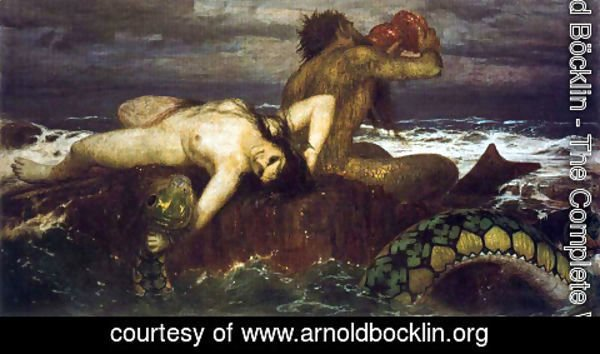 Arnold Böcklin - Triton and néréide