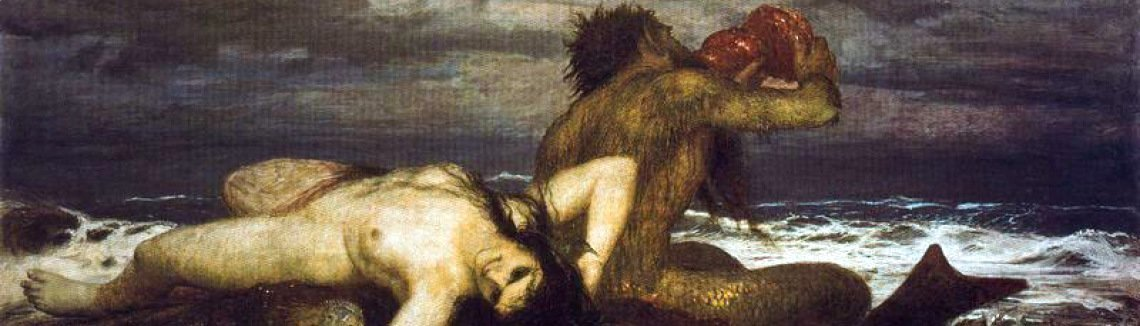 Arnold Böcklin - Triton and n�r�ide