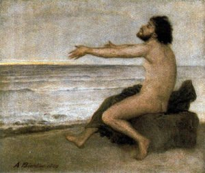 Arnold Böcklin - Ulysses by the sea