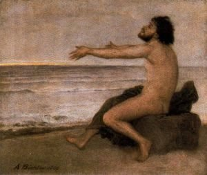 Arnold Böcklin - Odysseus by the sea