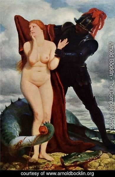 Arnold Böcklin - Angelika, guarded by a dragon