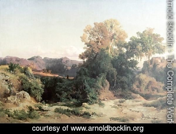Arnold Böcklin - At Alban Hills