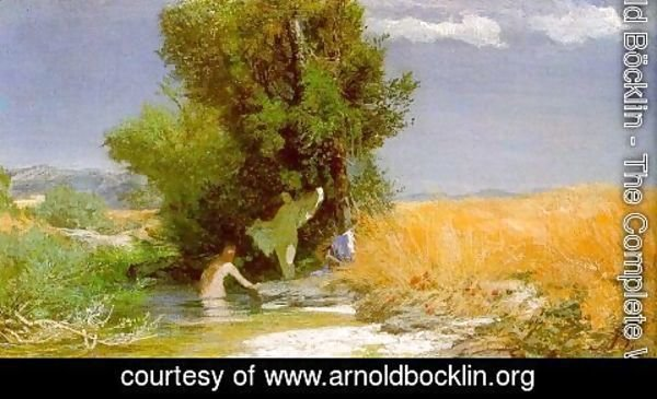Arnold Böcklin - Nymphs Bathing 1863-66